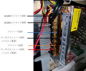 AC100V-DC12V電源ユニット