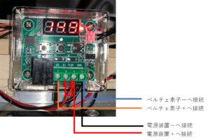 ペルチェ式冷蔵庫のサーモスタット