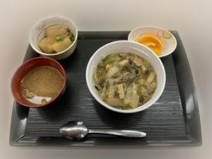 痔の手術後4日目夕食