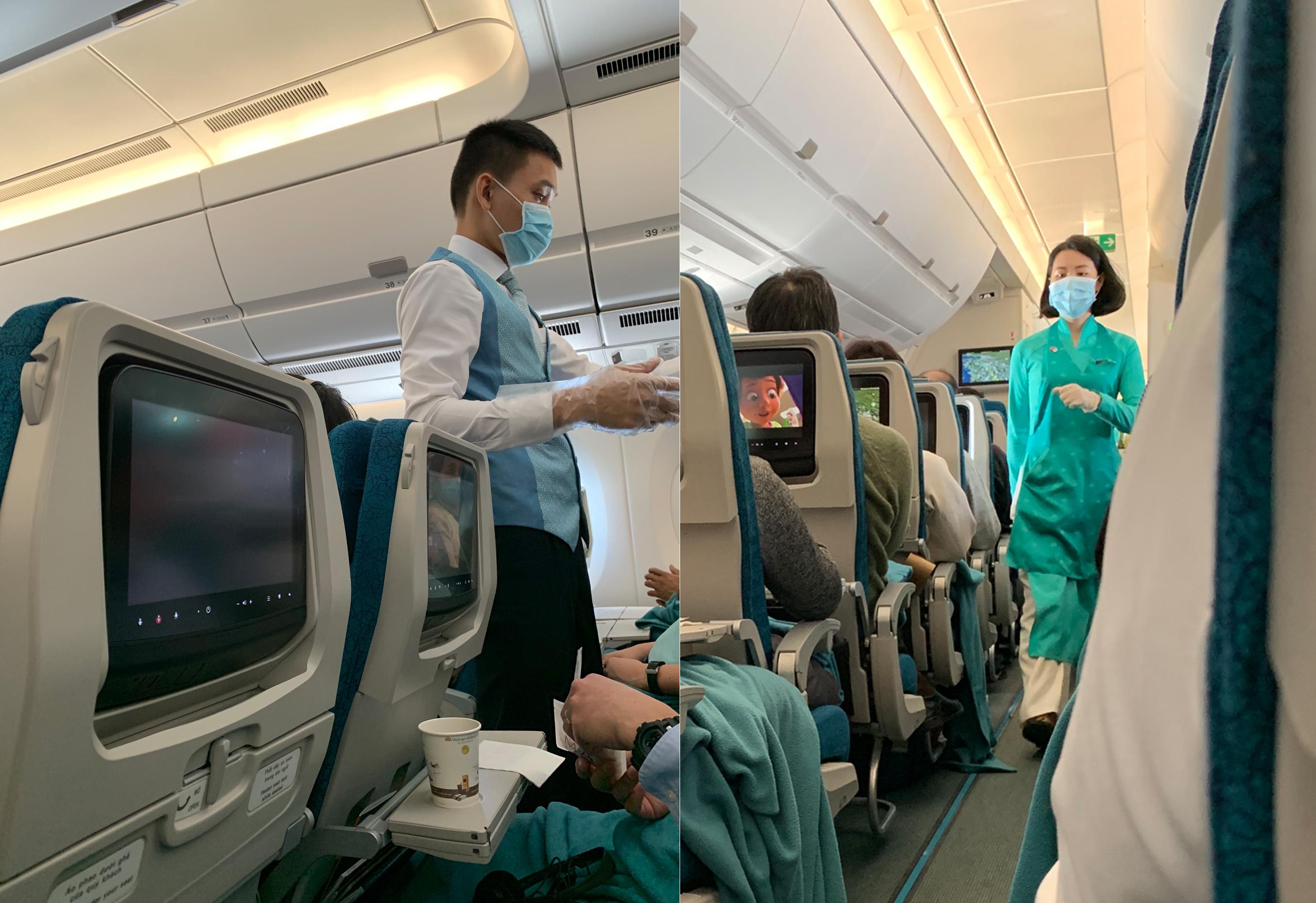 ベトナム航空の機内
